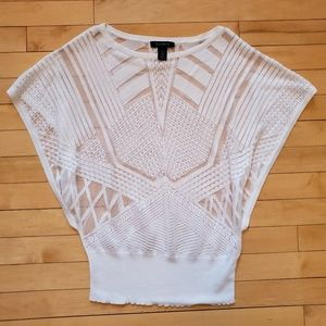 White House Black Market Sheer Dolman Knit Top